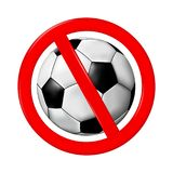 No play or football sign, vector illustration Royalty Free Stock Image