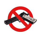 Sign prohibiting gun Stock Image