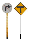 Sign prohibiting junction Royalty Free Stock Photos