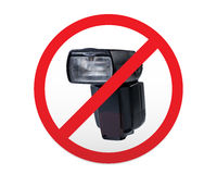 Sign prohibiting of photoflash. Royalty Free Stock Image