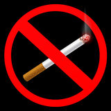 Sign prohibiting smoking Stock Images