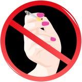 Sign prohibiting smoking Stock Image
