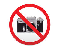 Sign prohibiting use of camera. Royalty Free Stock Photography