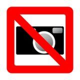 Sign prohibiting use of camera. Stock Image