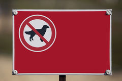 The sign prohibiting walking dogs Stock Photography