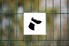 The sign prohibiting walking dogs Royalty Free Stock Photography