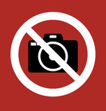 Sign Prohibition Camera Stock Photos