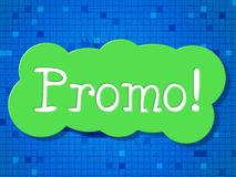 Sign Promo Represents Sale Offer And Reduction Royalty Free Stock Image