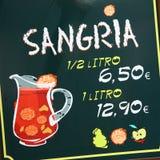 Sign promoting Sangria in Sevilla, Spain Stock Photo