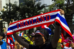 Sign of protesters shut down Bangkok Royalty Free Stock Image