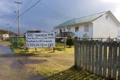 Sign protesting oil pipeleine Stock Photo