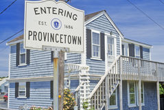 Sign for Provincetown, Massachusetts royalty free stock photo