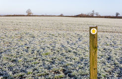 Sign for a Public Footpath Royalty Free Stock Images