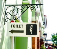 Sign of public restroom Stock Photo