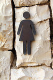 Sign of public toilets Stock Photos