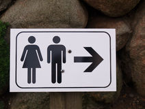Sign of public toilets WC Royalty Free Stock Image