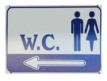 Sign of public toilets WC Royalty Free Stock Photo