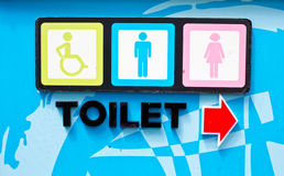 Sign of public toilets Royalty Free Stock Image