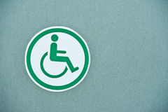 Sign of public toilets WC restroom for handicapped Stock Images