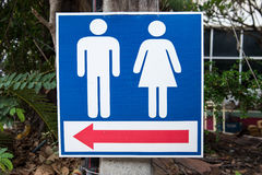 Sign of public toilets WC restroom for men and women. Stock Image