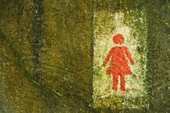 Sign of public toilets WC restroom for women Royalty Free Stock Image