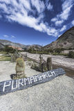 Sign in Purmamarca, Jujuy, Argentina. Royalty Free Stock Photo