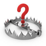 Sign question on bear trap. Risk concept. Sign question on bear trap Stock Images