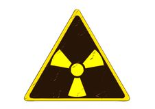 Sign of radiation Royalty Free Stock Photography