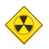 Sign radiation. Isolated on white background royalty free stock photography