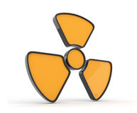 Sign of radiation. 3d icon, isolated Royalty Free Stock Photos