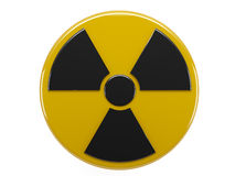 Sign radiation. Icon of sign radiation on white background Royalty Free Stock Images