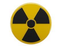 Sign radiation. Icon of sign radiation on white background vector illustration