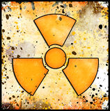 Sign of radiation on grunge Stock Photography