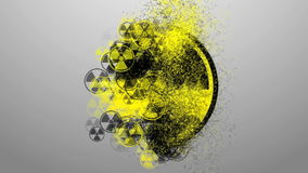 Sign of radiation. icon infection stock footage