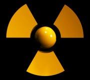 Sign of radiation. Sign symbol of radiation on black background Royalty Free Stock Photography