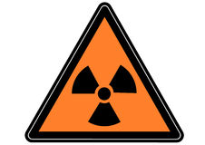 Sign radioactivity Royalty Free Stock Images