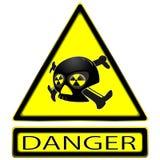 Sign of radioaktivity Stock Photo