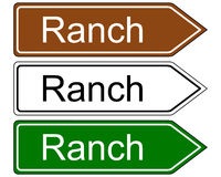Sign ranch. Detailed and colorful illustration of sign ranch Stock Photos