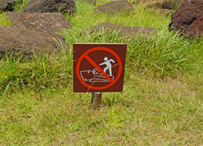 Sign at Rapa Nui - Easter Island Stock Photos