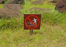 Sign at Rapa Nui - Easter Island Stock Photos