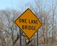 One Lane Bridge Stock Photo
