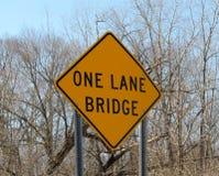 One Lane Bridge Stock Photo