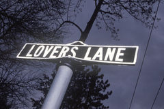 A sign that reads �Lovers Lane� Stock Image