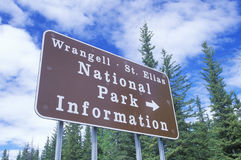A sign that reads �National Park Information� royalty free stock photo