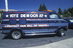 A sign that reads �Vote Democrat - Protect our Bill of Rights� Stock Photo