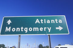 A sign that reads �Atlanta/Montgomery� Royalty Free Stock Photography