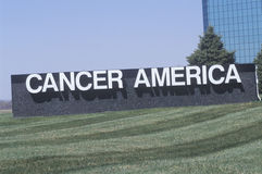 A sign that reads �Cancer America� Royalty Free Stock Photo