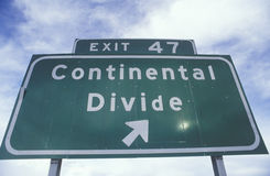 A sign that reads �Continental Divide� Royalty Free Stock Image