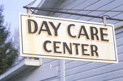 A sign that reads �Day Care Center� Royalty Free Stock Photos