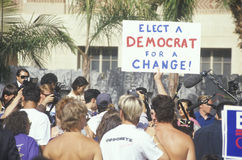 A sign that reads �Elect a Democrat for a change� Stock Image